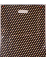 "7.25"" x 10"" Black/Gold Stripe Carrier - Pack 500"